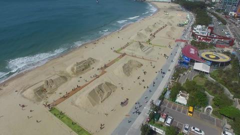 Haeundae Beach when Sand Festival Footage