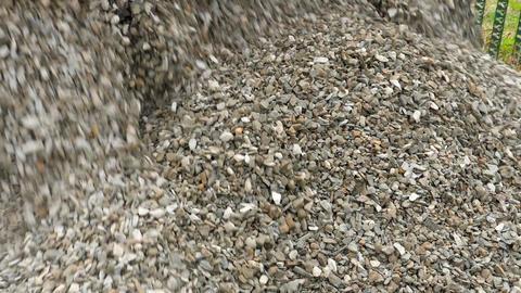 Truck unload crushed stone ビデオ