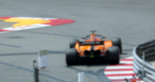Two Formula One Driving Fast On Speed Track In Slow Motion ภาพวิดีโอ