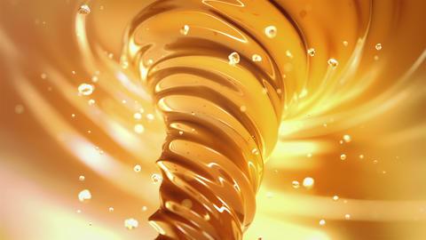Caramel vortex in 4K Animation