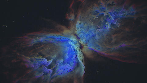 Unique Particle Recreation of the Butterfly Nebula Live Action