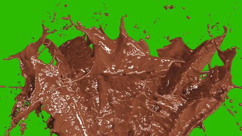 Beautiful Chocolate and Coffee Splashes in Slow Motion and Freeze Motion, Alpha Animation