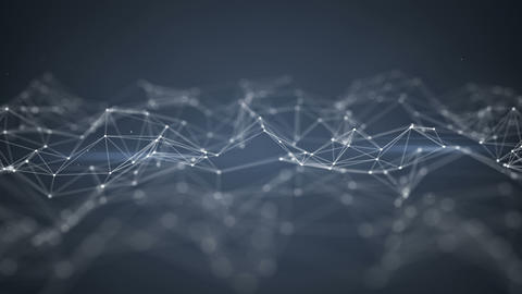 Futuristic network shape seamles loop animation with DOF Animation