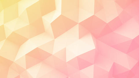 Light yellow pink polygonal geometric surface seamless loop Animation