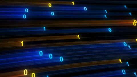 Digital binary data high speed internet concept seamless loop Animation