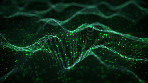 Glowing green neural network seamless loop 3D animation CG動画