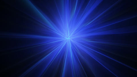 Blue radial light rays abstract seamless loop animation Animation