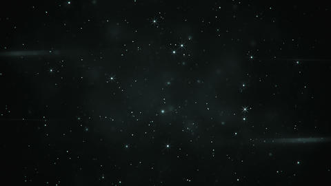 Flying through blinking stars seamless loop animation Stock Video Footage
