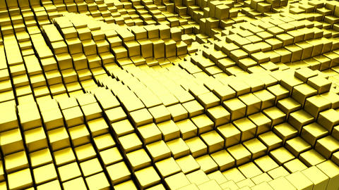 Gold blocks seamless loop 3D render animation Animation