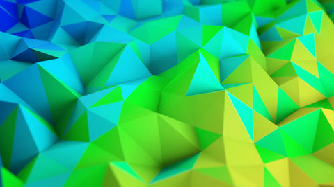 Colorful low poly surface 3D render seamless loop animation Animation