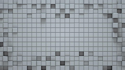 Surface of white 3D cubes seamless loop background Footage