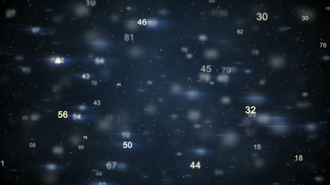 Flying numbers seamless loop animation Animation