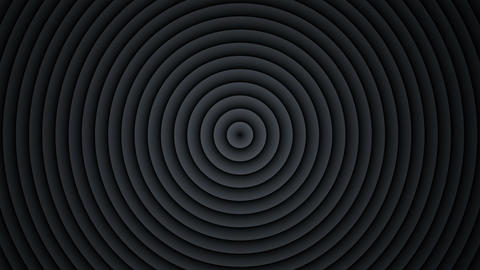 Concentric black circles expanding seamless loop 3D render Animation
