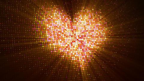 Shiny pink heart shape on digital screen loopable animation Animation