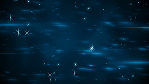 Light flares and glowing stars seamless loop animation Animation