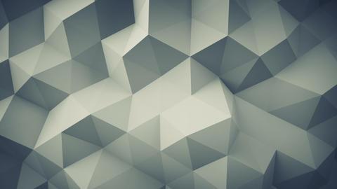 Polygonal geometric grey surface seamless loop 3D animation Animation