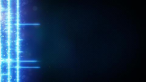 Blue digital audio equalizer on edge seamless loop animation Animation