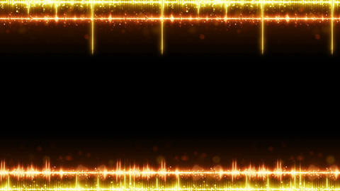 Frame of orange digital audio equalizer seamless loop animation Animation