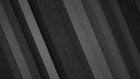 Diagonal black stripes seamless loop 3D render animation Animation