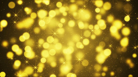 Yellow blurred lights and sparkling particles seamless loop Animation
