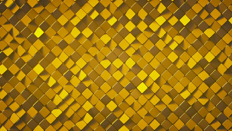 Gold rhombus pattern surface 3D render loopable animation Animation