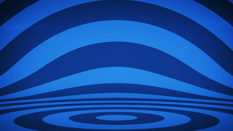 Abstract background with blue concentric circles seamless loop Animation