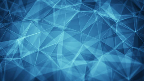 Blue polygons and lines seamless loop smooth animation Animation