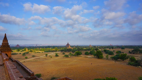 Landscape with Temples in Bagan, timelapse Footage