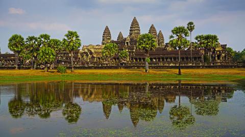 Angkor Wat temple in Siem Reap, timelapse Footage