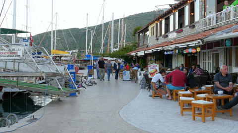 DATCA, TURKEY - MAY 2015: Daily life Summer Travel Destination Footage