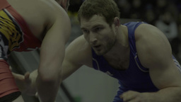 Two men athletes during wrestling (close-up) Footage