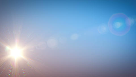 Beautiful Bright Sun Shining Moving Across the Clear Blue Sky from Morning till Animation