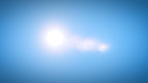 Big Bright Sun Moving Across the Clear Blue Sky in… Stock Video Footage