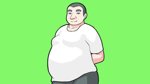 Cartoon big man Animation
