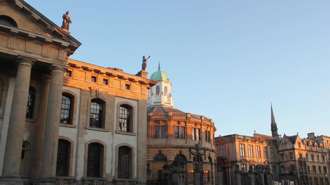 Oxford- Sheldonian Theatre on Broad Street Live Action