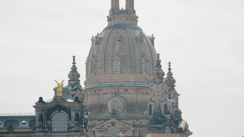 Frauenkirshe or Church of Our Lady dome telephoto lens shot. Dresden, Germany Photo