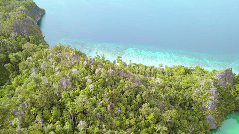 Take Off on a Tropical Island. Aerial View 영상물
