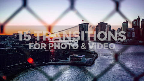 15 Transitions Pack Premiere Pro Template