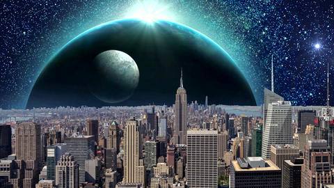 Fantasy New York City Animation. Apocalypse of New York. Ver. 05 CG動画素材
