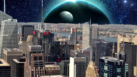 Fantasy New York City Animation. Apocalypse of New York. Ver. 07 CG動画素材