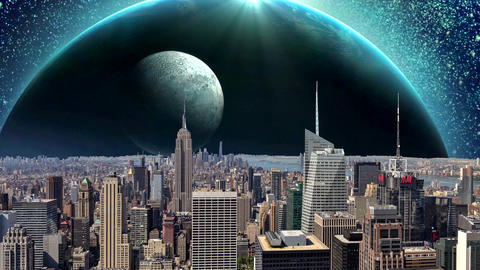 Fantasy New York City Animation. Apocalypse of New York. Ver. 09 CG動画素材