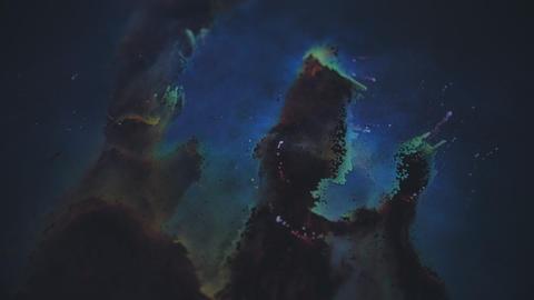 Unique Particle Recreation of the Eagle Nebula Live Action