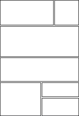 comic storyboard with seven grid layout Vector