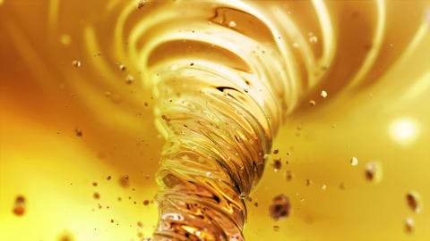 Liquid tea vortex in 4K Animation
