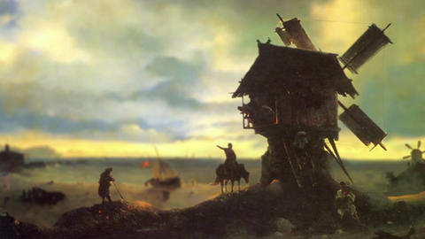 3D Animated Classical Painting HD - Ivan Aivazovsky -Windmill on the Sea Coast Animation
