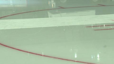 Hockey court, ice arena Stock Video Footage