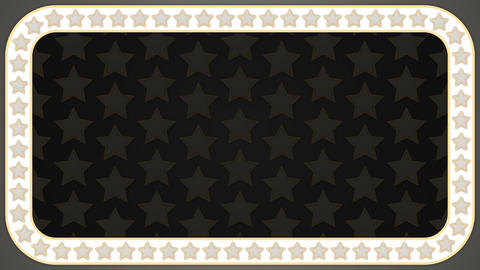 Stars grey background rectangle border frame CG動画素材
