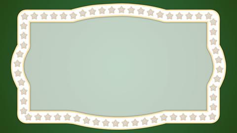 Stars green background vintage border frame Animation