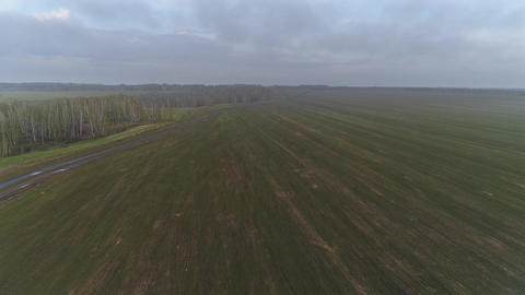 Spring Agricultural Field Footage