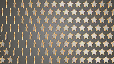 Rotating stars grey background Animation